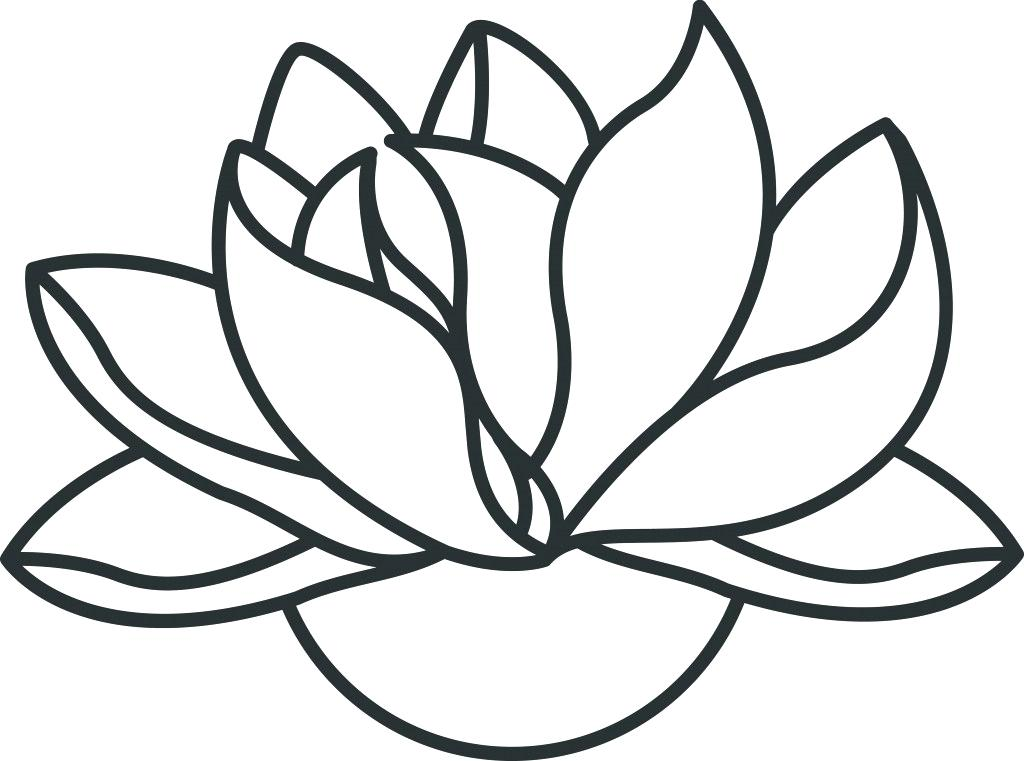 1024x761 Outline Of Lotus Flower