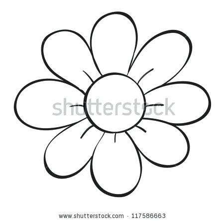 450x443 flower drawing outline a flower drawing simple lotus flower