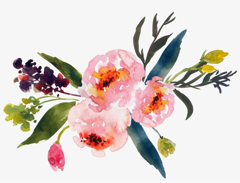 820x627 Flower Bouquet Watercolor Painting Clip Art