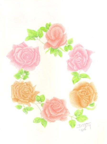 449x600 Pastel Flower Drawings