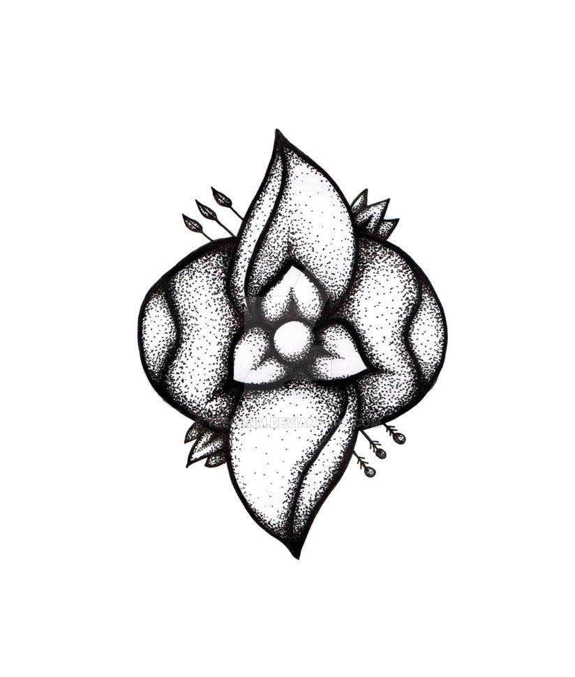 824x970 La Dispute Flower In Black Ink Pen