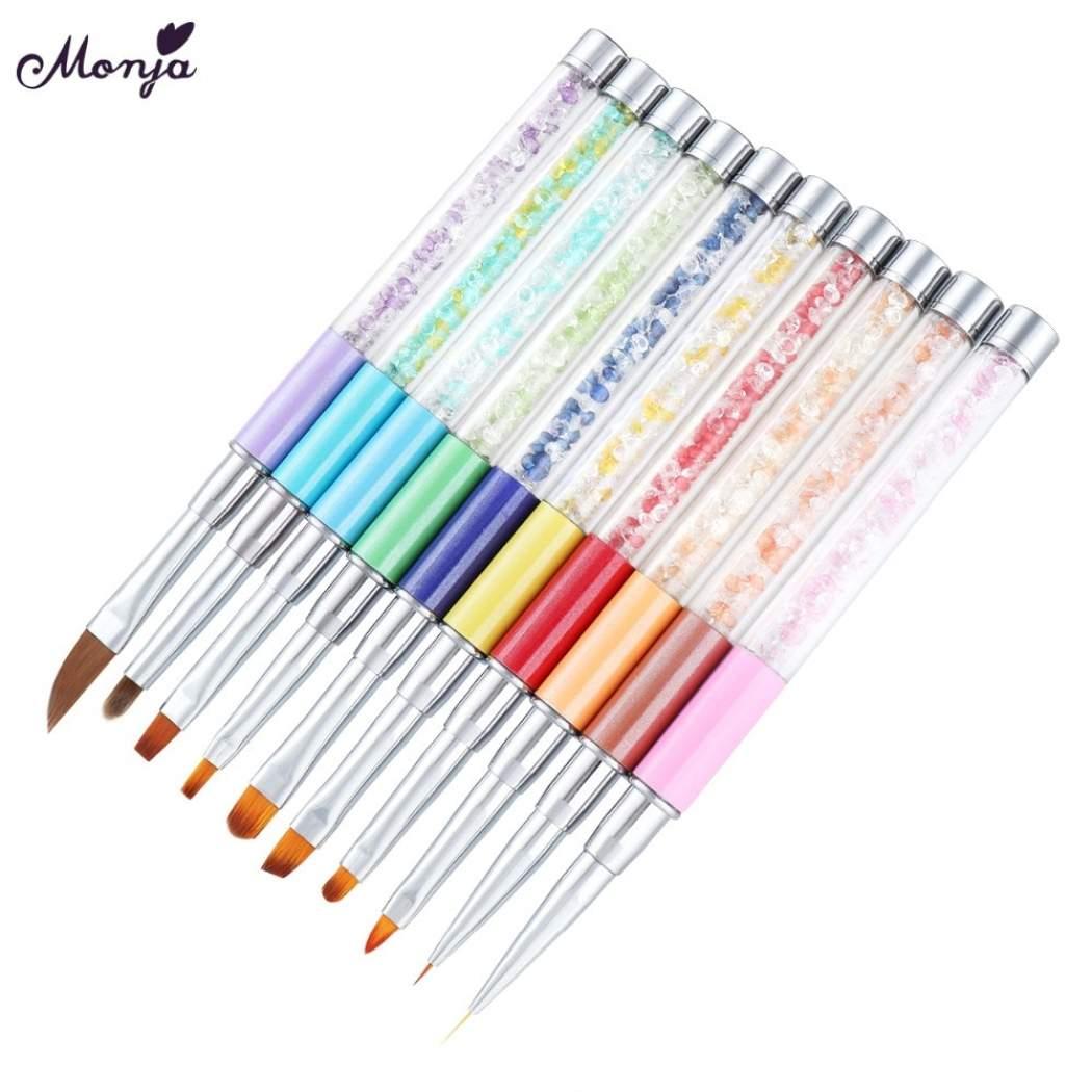 1050x1050 Monja Nail Art Acrylic Uv Gel Extension Brush Pen Powder Carving