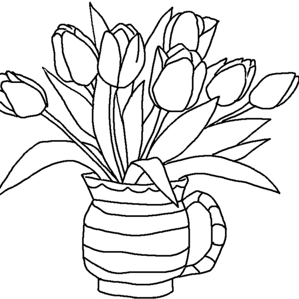 1024x1024 tulips pencil drawing for kids tulips pencil drawing for kids is