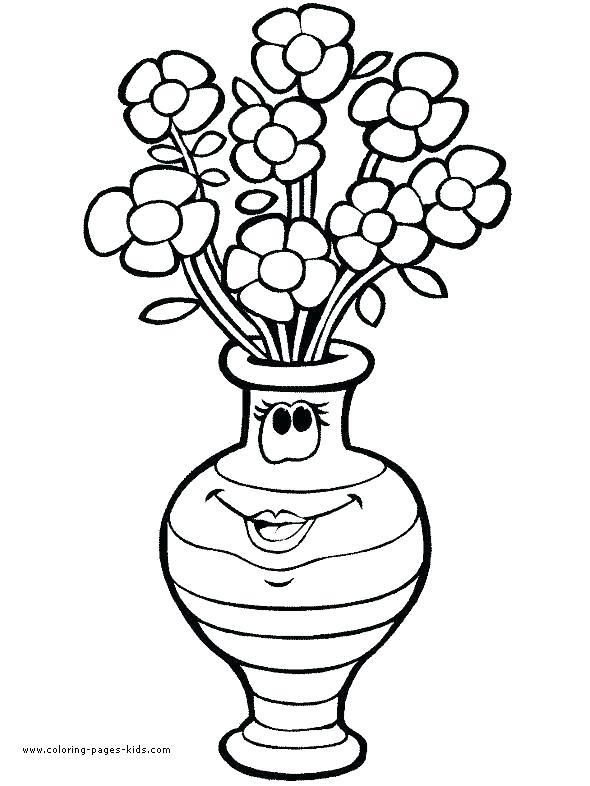 590x786 vase drawing for kids vase design sheet architectures around