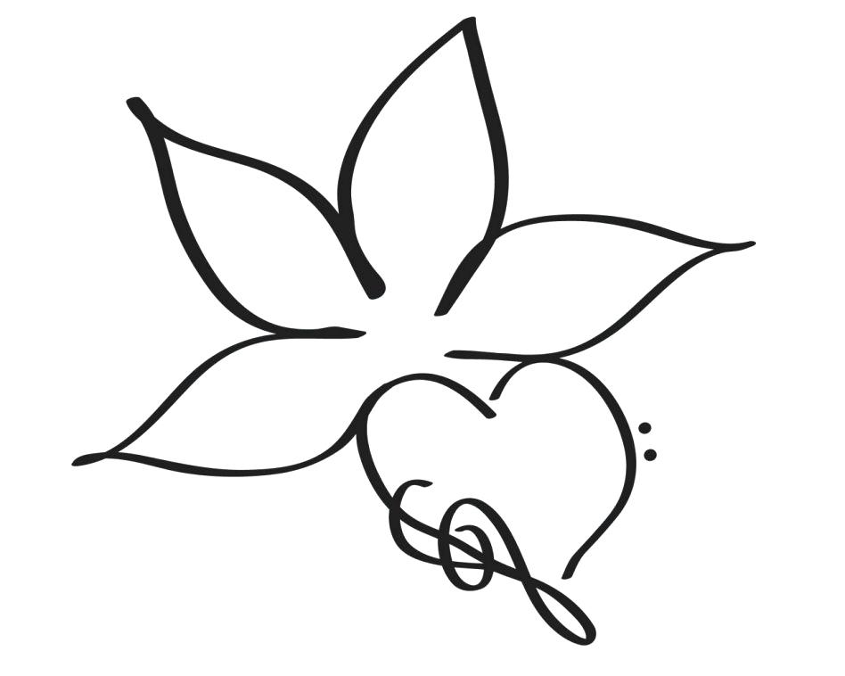 Flower Tattoo Black And White Simple Flowers Healthy