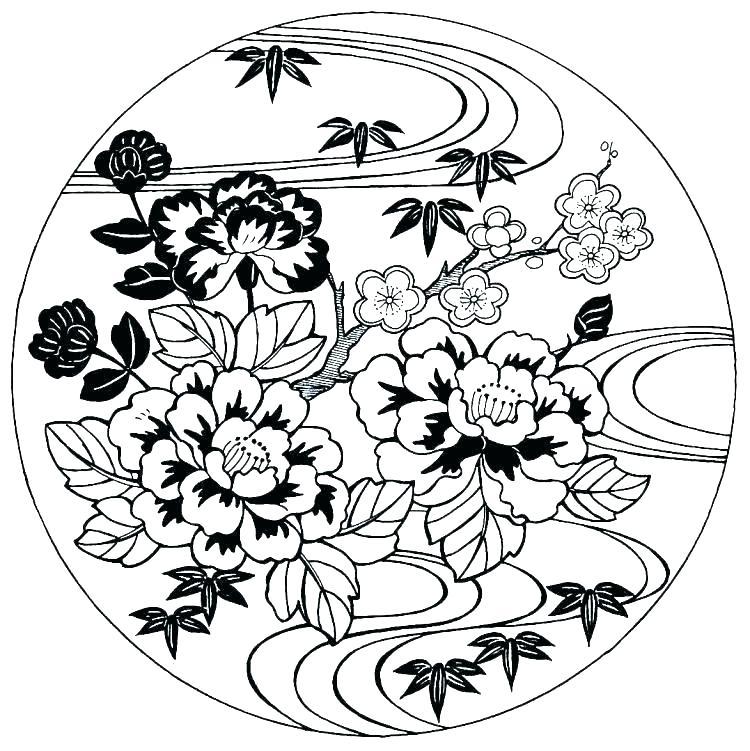 Flower Tree Drawing | Free download best Flower Tree Drawing ...
