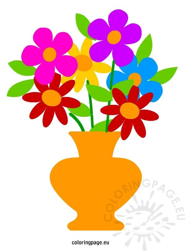 595x804 best of flower vase cartoon images decoration flower vase