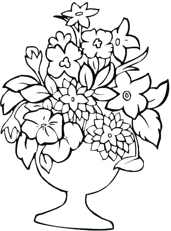 579x780 flower vase coloring pages flower vase coloring