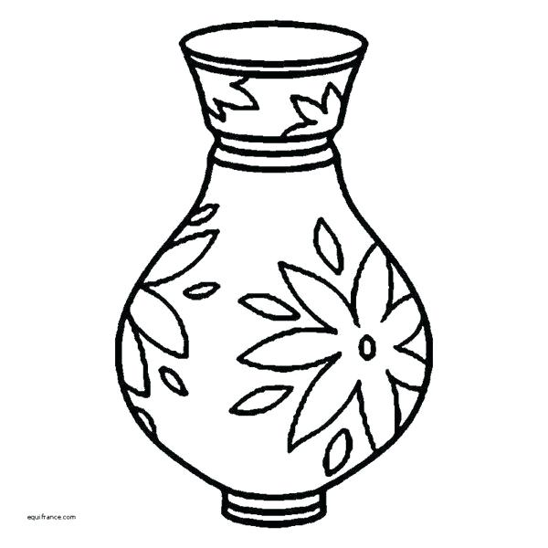 600x600 vases drawings with flowers flower vase drawing how to draw a vase