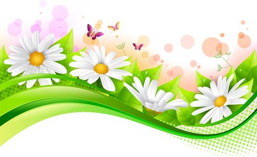 500x305 Branch Spring Flowers Birds Clip Art Free Vector Download