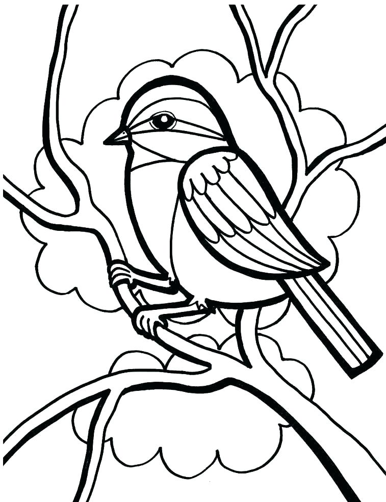 757x985 Free Printable Coloring Pages Birds Birds And Flowers Coloring