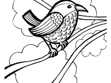 440x330 Images Of Realistic Flower With Birds Coloring Pages