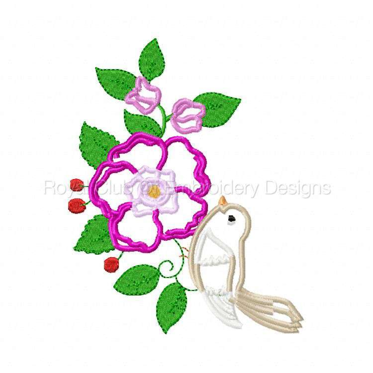 750x750 Applique Birds And Flowers Set Embroidery Designs
