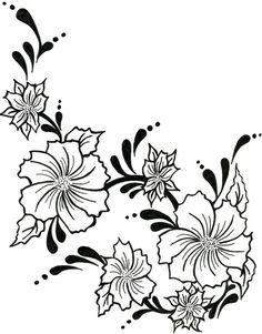 Flowers And Vines Drawing Free