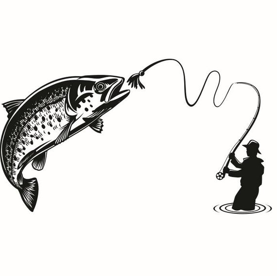 Fly Fisherman Drawing