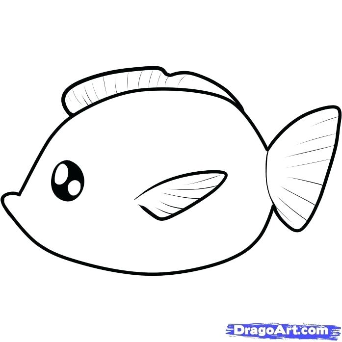 697x697 Fish Kids Drawing How To Draw A Fish For Kids Step Architecture