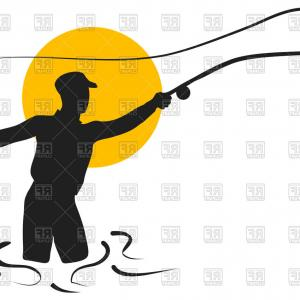 300x300 Best Top Fly Fishing Rod Stock Vector Design Images Drawing Soidergi