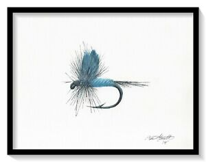 300x237 blue dun dry fly print, dry fly, watercolor, fishing, fly fishing