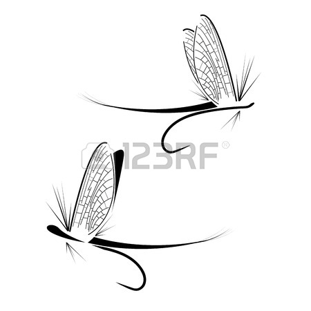 450x450 Huge Collection Of 'fishing Fly Silhouette' Download More Than