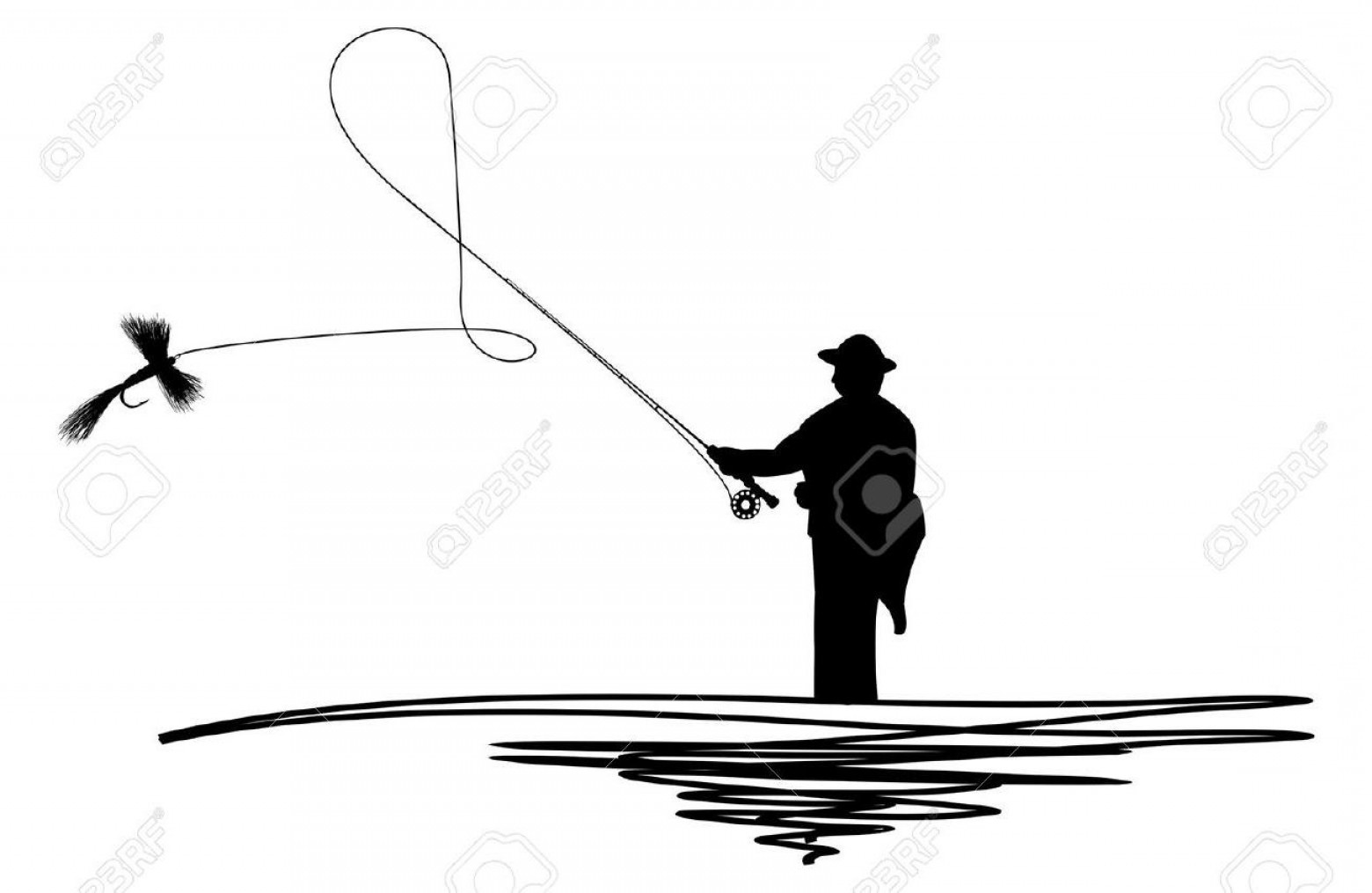 1560x1015 Top Fly Fishing Casting Silhouette Library Sohadacouri