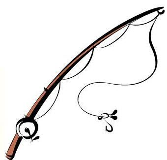 340x325 fishing rod clip art rod clipart fishing gear fish drawings