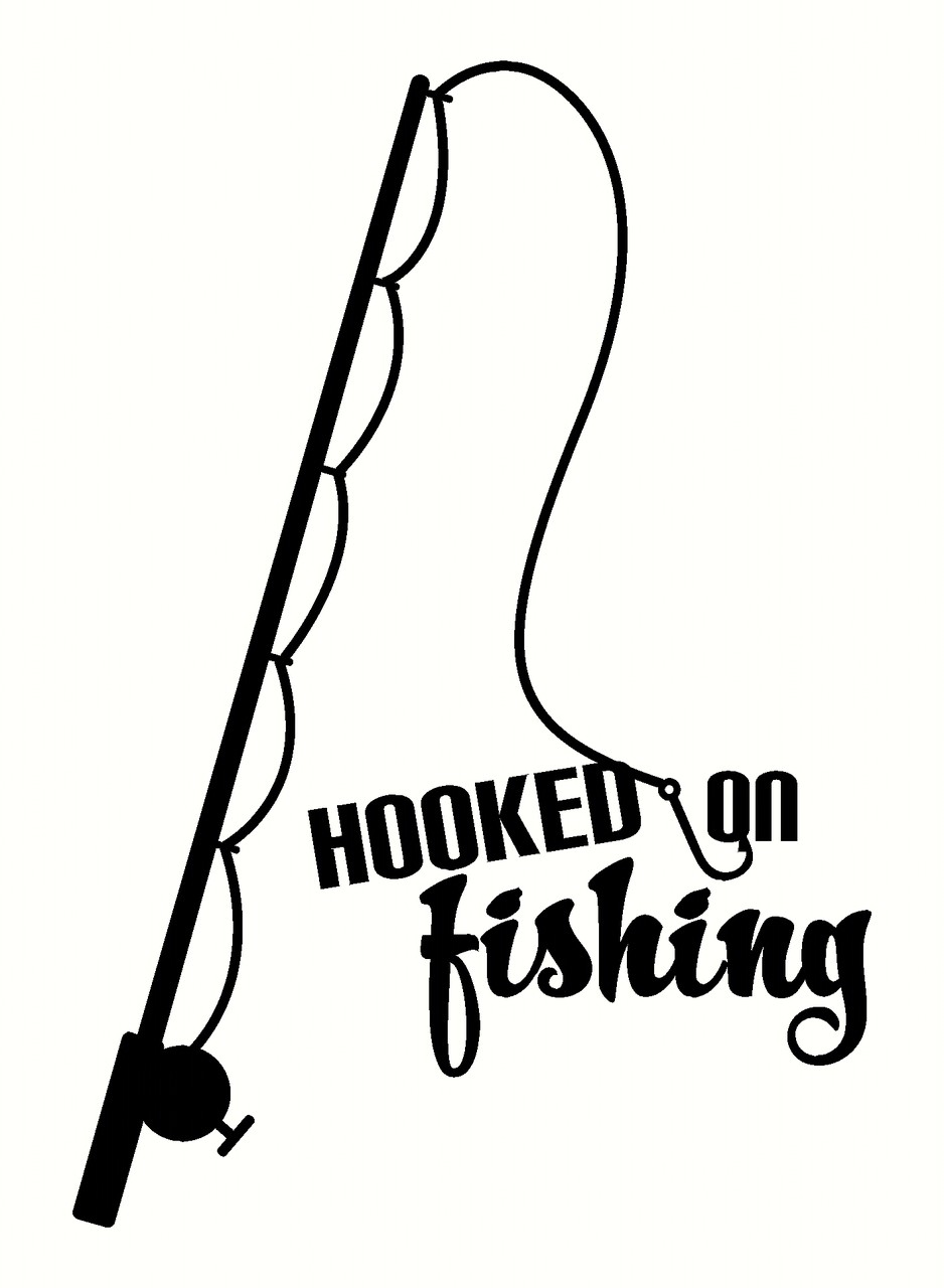938x1280 Silhouette Fishing Pole Clipart