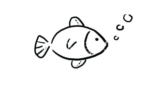 570x320 Fishing Pole Drawing
