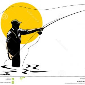 300x300 Best Hd Fly Fisherman Drawing Vector Design Sohadacouri
