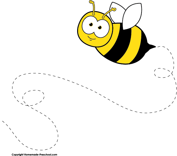 569x504 Flying Bee Drawing