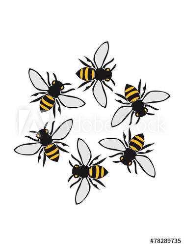 375x500 Flying Bees Circular Ring