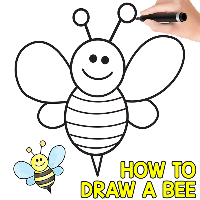 700x700 How To Draw A Bee