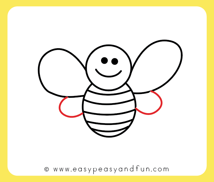 703x600 How To Draw A Bee