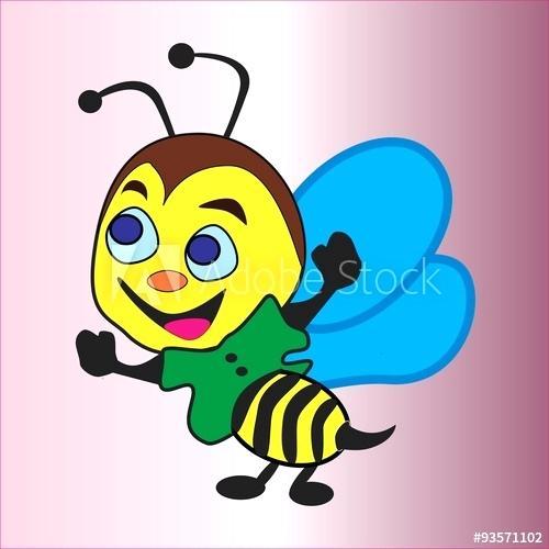 500x500 Animal Printout Animals Bee Pets Drawing Smiling Cartoons