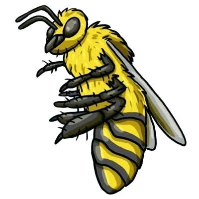 400x400 Bee Drawings