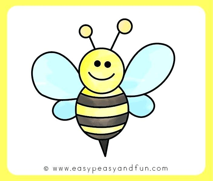 703x597 Bee Drawings Color The Drawing Bumble Bee Drawing Easy