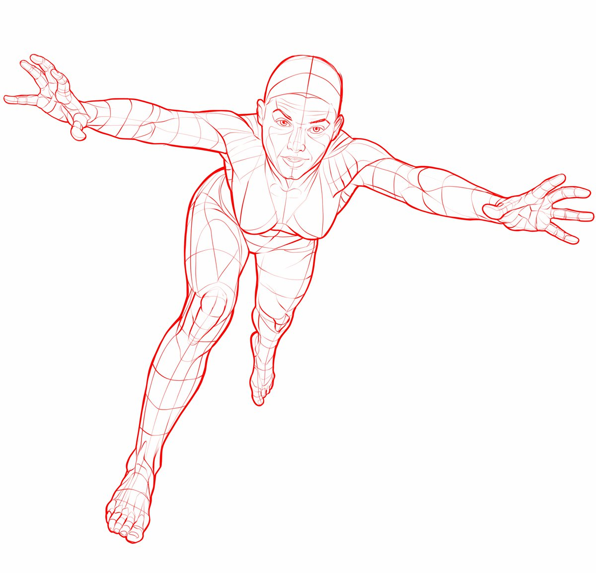 1200x1154 Posemuse On Twitter Fallingflying Pose Reference Drawing