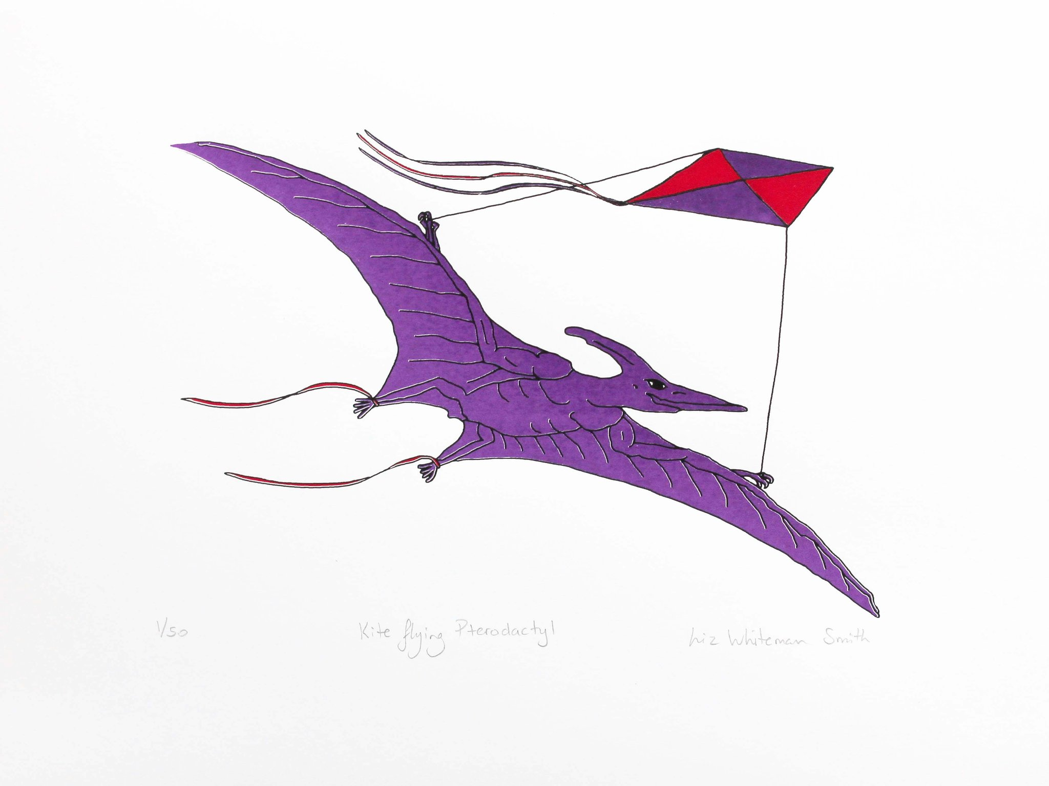 2048x1536 Kite Flying Pterodactyl Liz Whiteman Smith