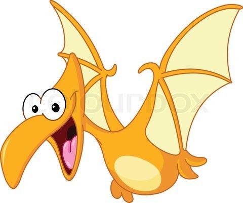 480x401 Baby Dino Drawing Stock Vector Of 'pterodactyl Dinosaur Flying