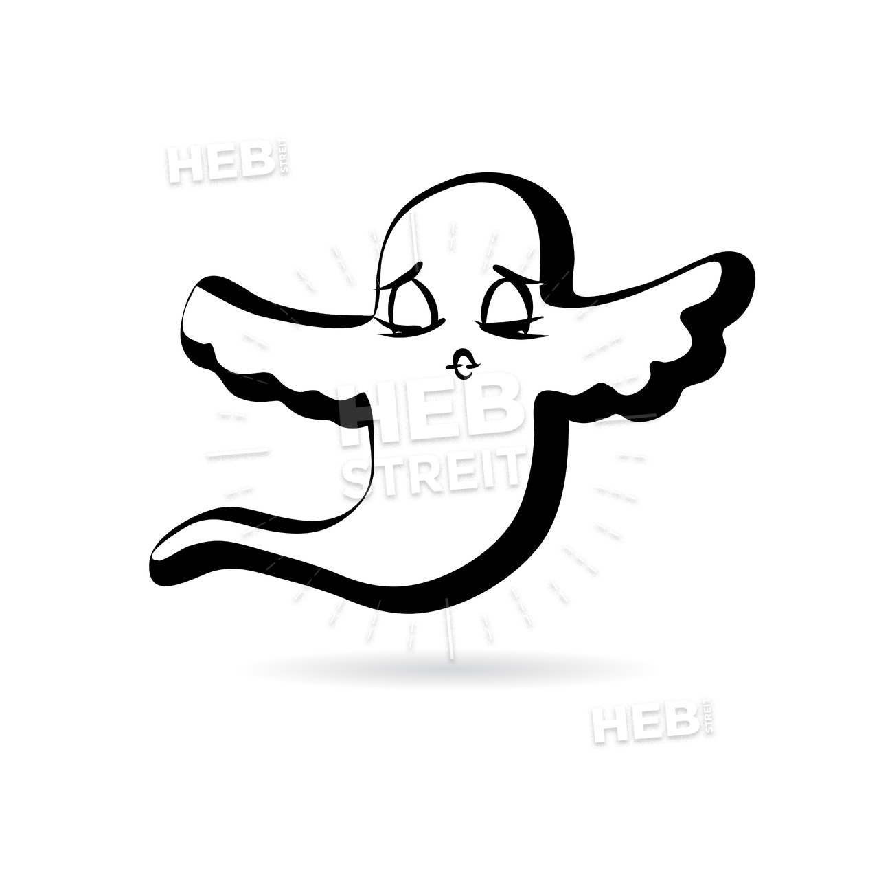 1280x1280 Flying Ghost Design Vector Sketch Hebstreits Sketches