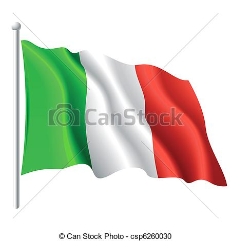 450x470 flag of italy vector illustration of flying flag of italy