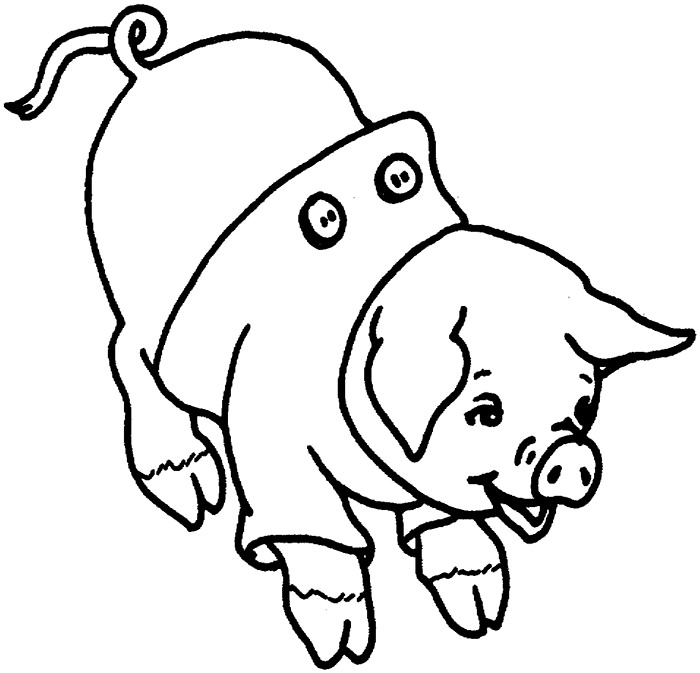 Flying Pig Drawing