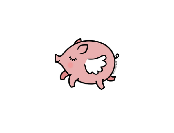 600x461 Collection Of Free Pigs Drawing Flying Pig Download On Ui Ex