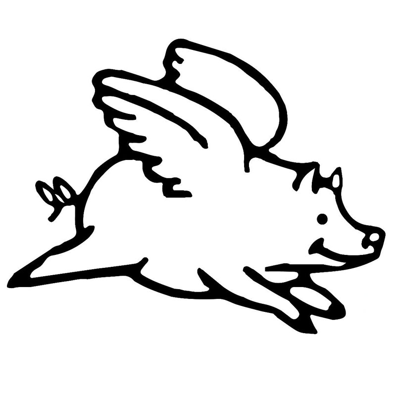800x800 Flying Pig Vinyl Car Sticker Decal Flying Pig Gifts