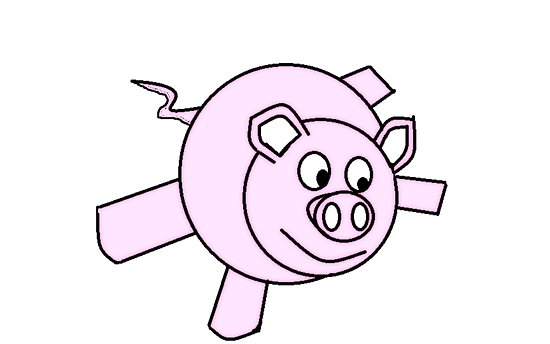 550x344 Omg A Flying Pig! Posters
