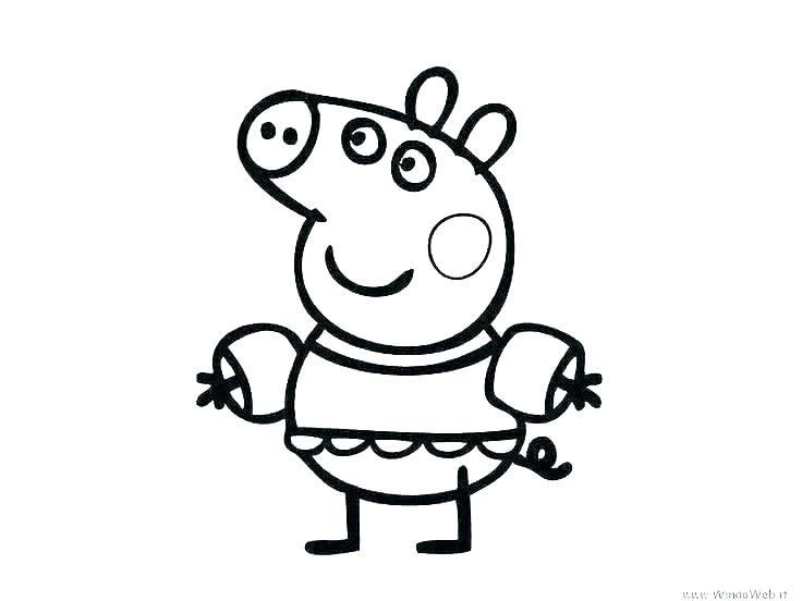 736x552 Pig Coloring Pages Flying Pig Coloring