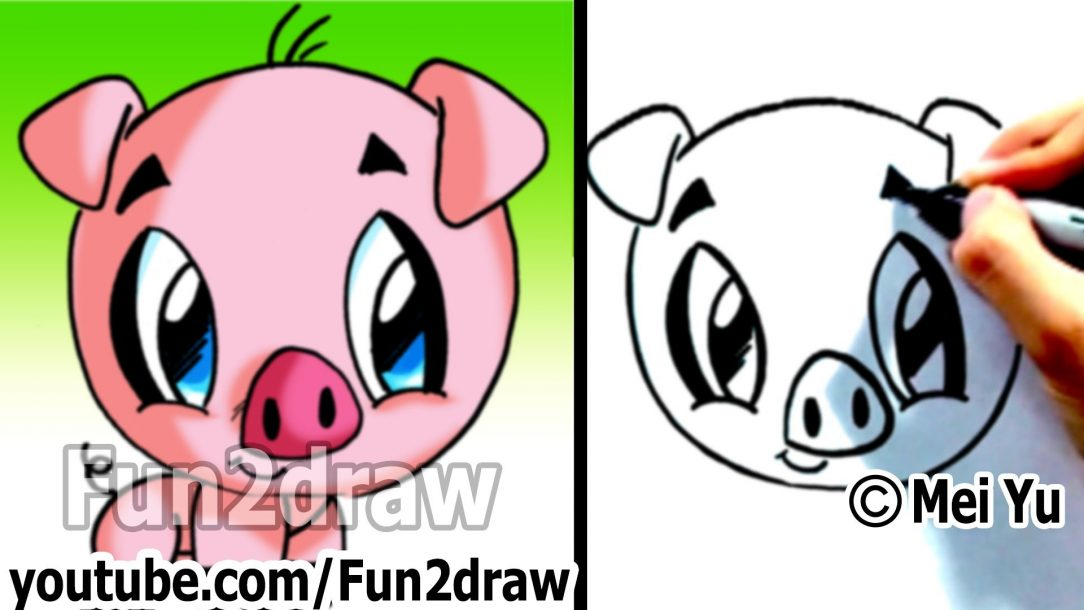 1084x610 Pig Drawing Tutorial Peppa Easy Pencil Flying And Painting Guinea