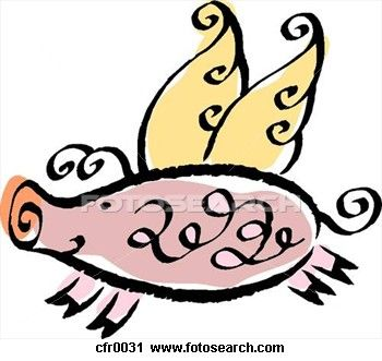 350x331 When Pigs Fly Clip Art Pigs Are People Too! Flying Pig, Pig
