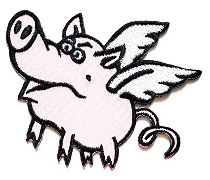 425x364 Nipitshop Patches Pretty Pink Flying Pig Happy Smile