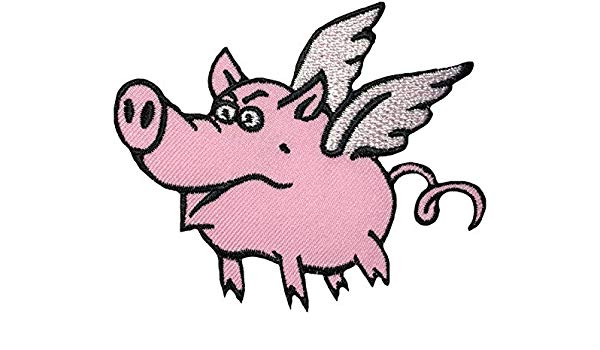 600x350 Papapatch Flying Pig Animal Wings Wild Hog Pet Sew