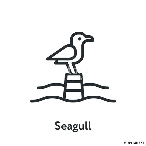 500x500 Seagull Outline Stock Photos Offset Seagull Flying Outline